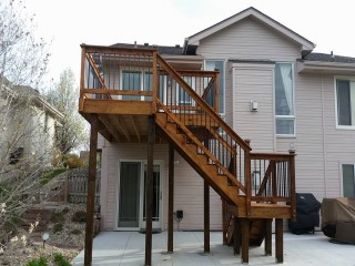 Multi-Level Deck Staining