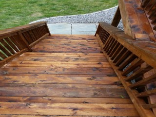 Deck Stair Staining