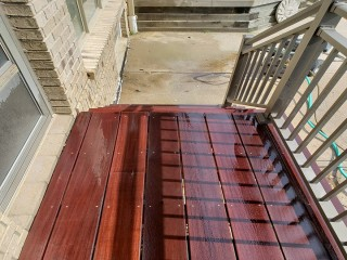 Front Steps Staining After